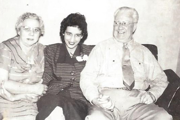 From left to right: Dorothy, Joni and Frank Doyle