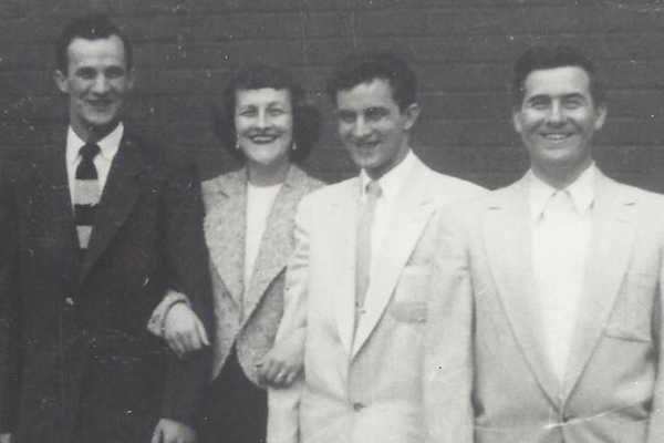 From left to right, Jack Goulding, Joyce Goulding, Jerry Goulding & Jim Goulding
