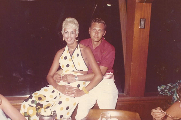 From left to right, Joni and Ron in Hawaii together