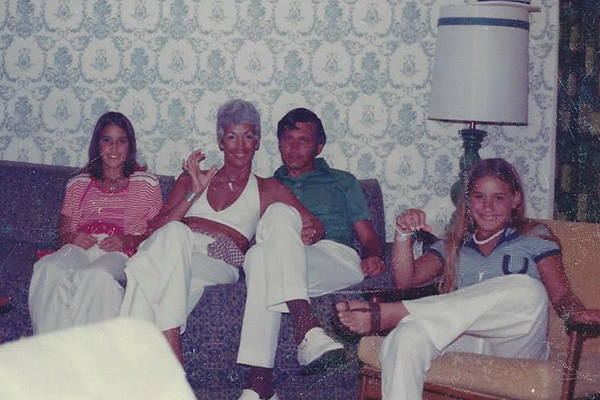 From left to right, Connie, Joni, Ron & Candy - Treasure Island Florida